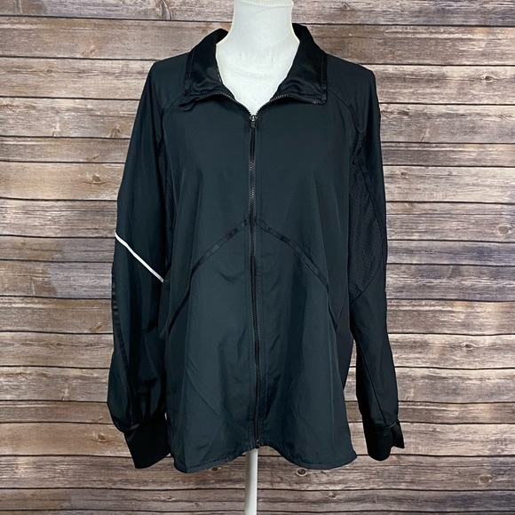 Champion Jackets & Blazers - Champion Black Lightweight Mesh Detail Jacket